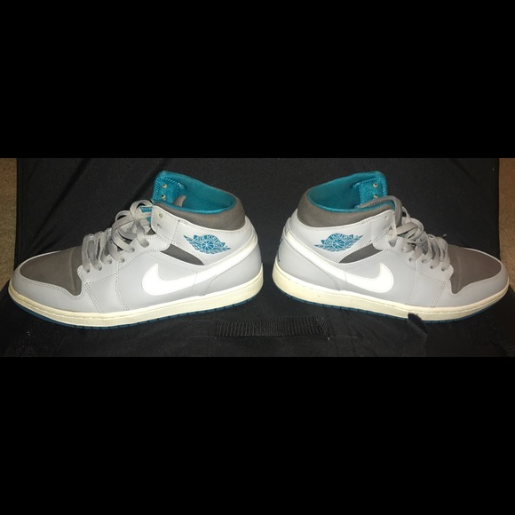 61d1e5971499 Jordan Other - Nike Air Jordan 1 High Low Mid Gray White Teal Men